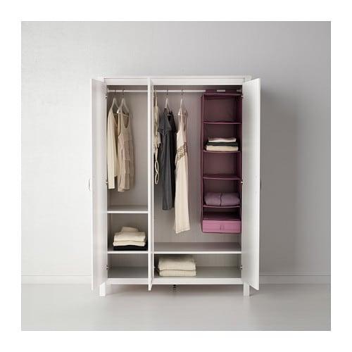 Brusali Szafa 3 Drzwi Biały Ikea
