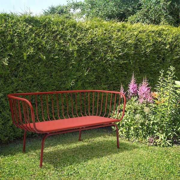 BRUSEN Sofa 3-osobowa, na zewnątrz, czerwony