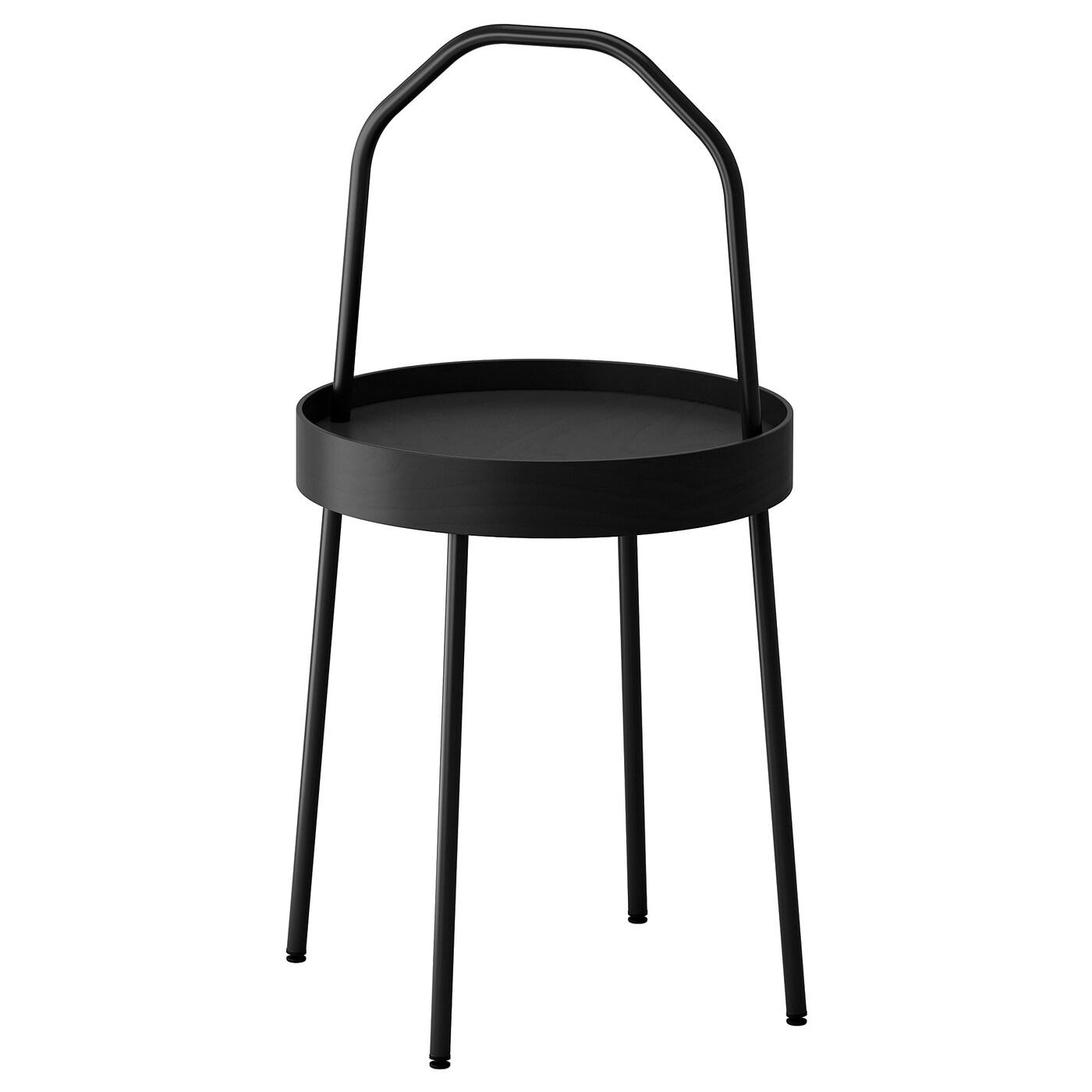 IKEA BURVIK czarny stolik kawowy