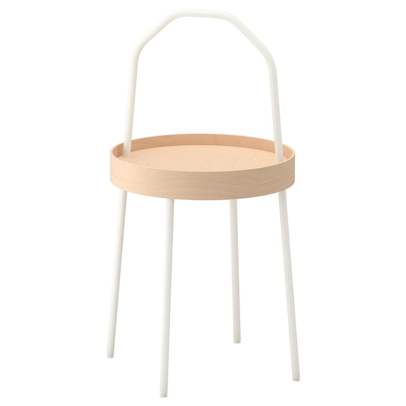 IKEA BURVIK biały stolik kawowy