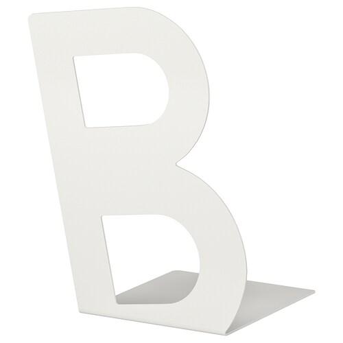 BUSBASSE podpórka do książek biały 19 cm 23 cm
