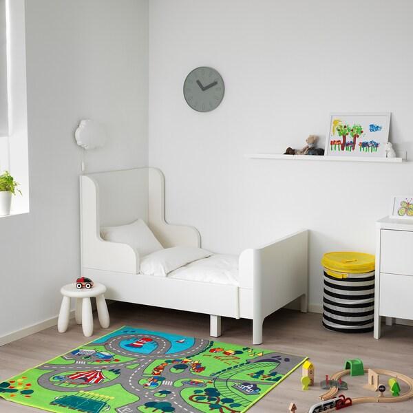 BUSUNGE Rozsuwana rama łóżka, biały, 80x200 cm