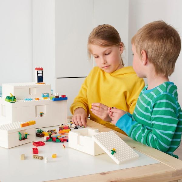 BYGGLEK Pudełko LEGO® z pokrywką, 35x26x12 cm