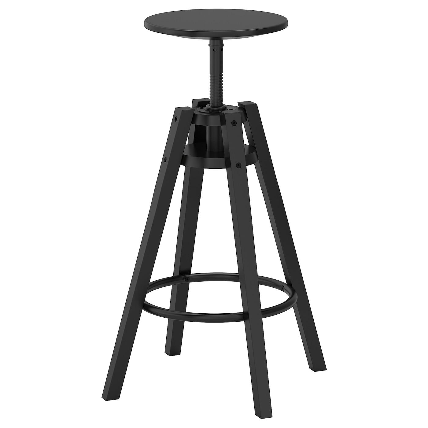 DALFRED Stołek barowy czarny 63 74 cm