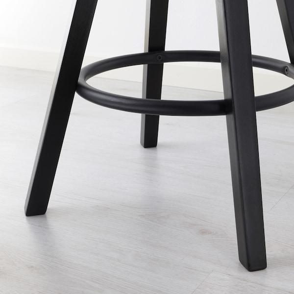 DALFRED Stołek barowy, czarny, 63-74 cm