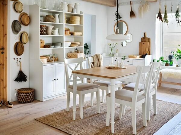 DANDERYD Stół, biały, 130x80 cm