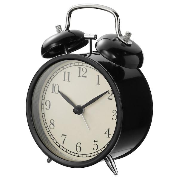 DEKAD budzik czarny 10 cm 6 cm 14 cm