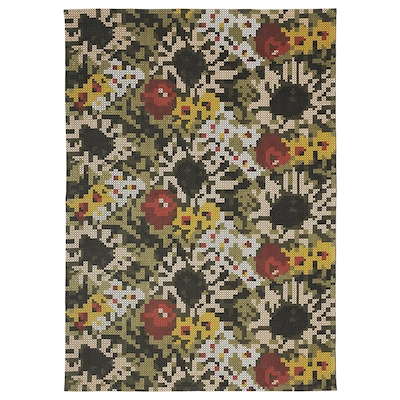 DEKORERA Dywan tkany na płasko, wzór w kwiaty, 160x220 cm