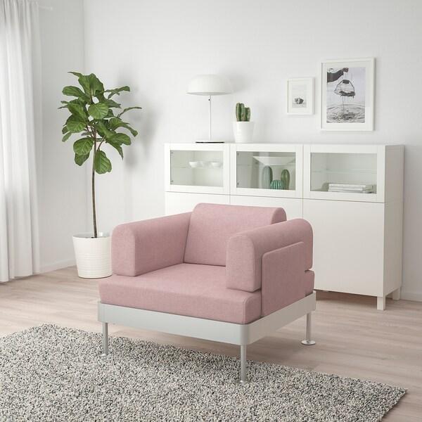 fotel plastikowy ikea różowy