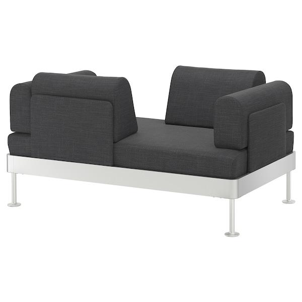 DELAKTIG Sofa 2-osobowa, Hillared antracyt