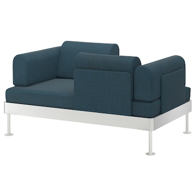 DELAKTIG Sofa 2-osobowa, Hillared granatowy