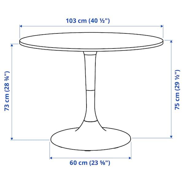 DOCKSTA Stół, biały/biały, 103 cm