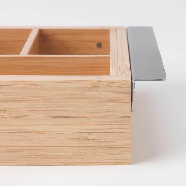 DRAGAN Rozsuwany pojemnik, bambus, 35-51x21 cm