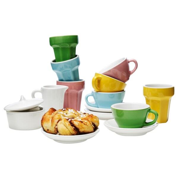 DUKTIG Komplet do kawy/herbaty, 10 szt., wielobarwny