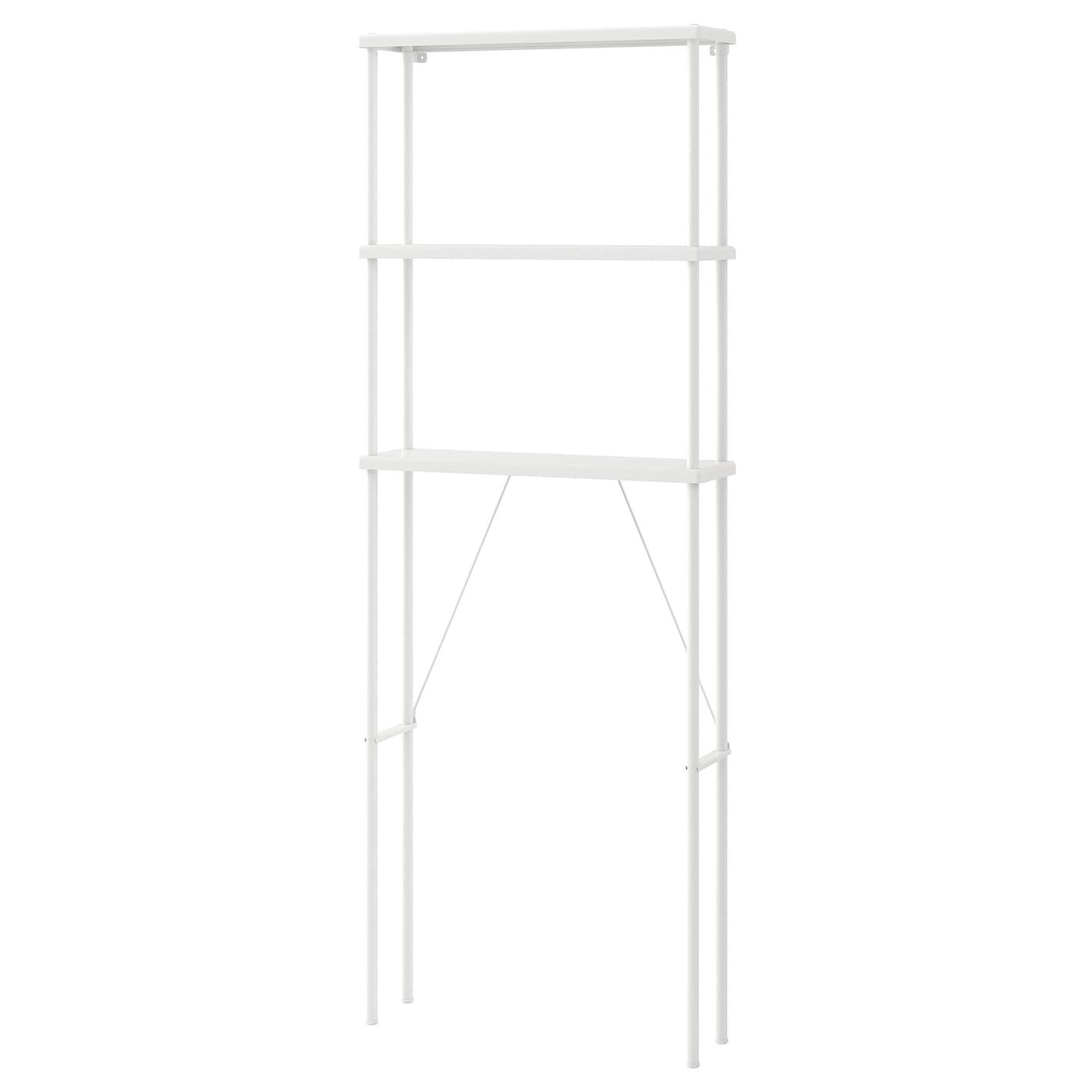 IKEA DYNAN biały regał do łazienki, 70x20x189 cm