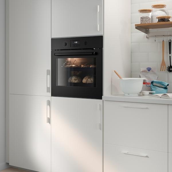 EFTERSMAK Piekarnik z wym. obiegiem powietrza, czarny