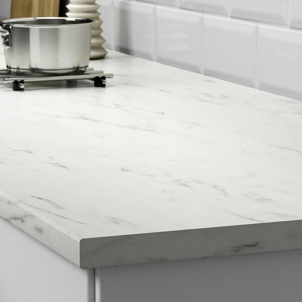 EKBACKEN blat biały imitacja marmuru/laminat 186 cm 63.5 cm 2.8 cm