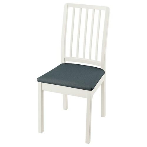 EKEDALEN krzesło biały/Idekulla niebieski 110 kg 43 cm 51 cm 95 cm 43 cm 41 cm 46 cm