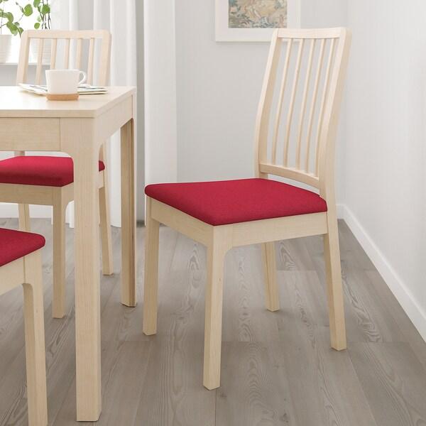EKEDALEN krzesło brzoza/Orrsta czerwony 110 kg 43 cm 51 cm 95 cm 43 cm 41 cm 46 cm