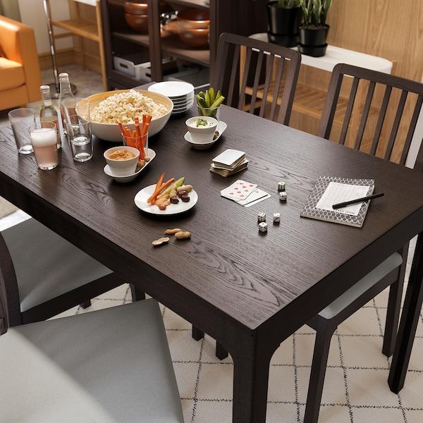 EKEDALEN Stół rozkładany, ciemnobrązowy, 120/180x80 cm