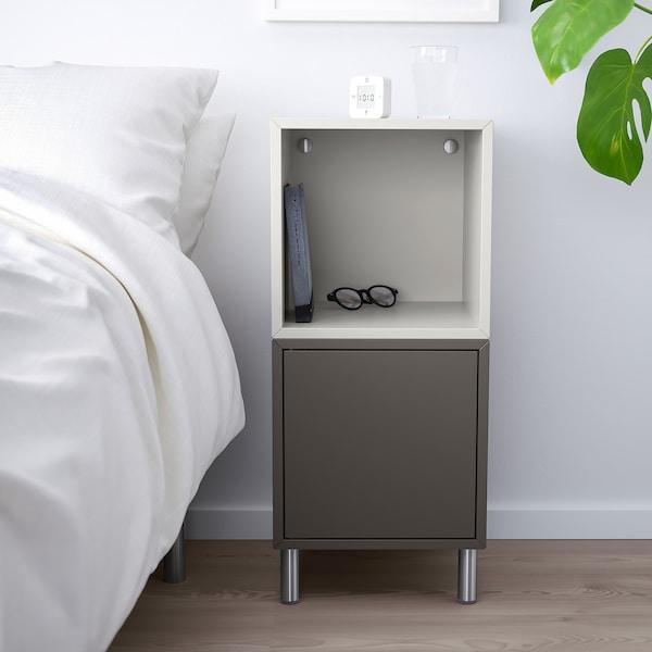 EKET Kombinacja szafek z nóżkami, ciemnoszary/jasnoszary, 35x35x80 cm