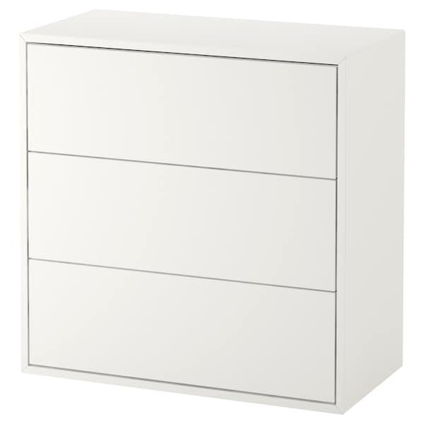 EKET Szafka z 3 szufladami, biały, 70x35x70 cm