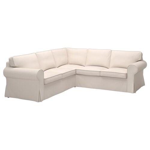 EKTORP sofa narożna 4-osobowa Lofallet beżowy 243 cm 243 cm 88 cm 88 cm 49 cm 45 cm
