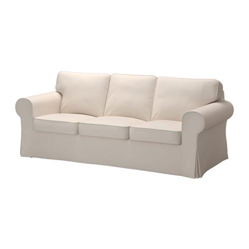 Ektorp Sofa Trzyosobowa Lofallet Beżowy Ikea