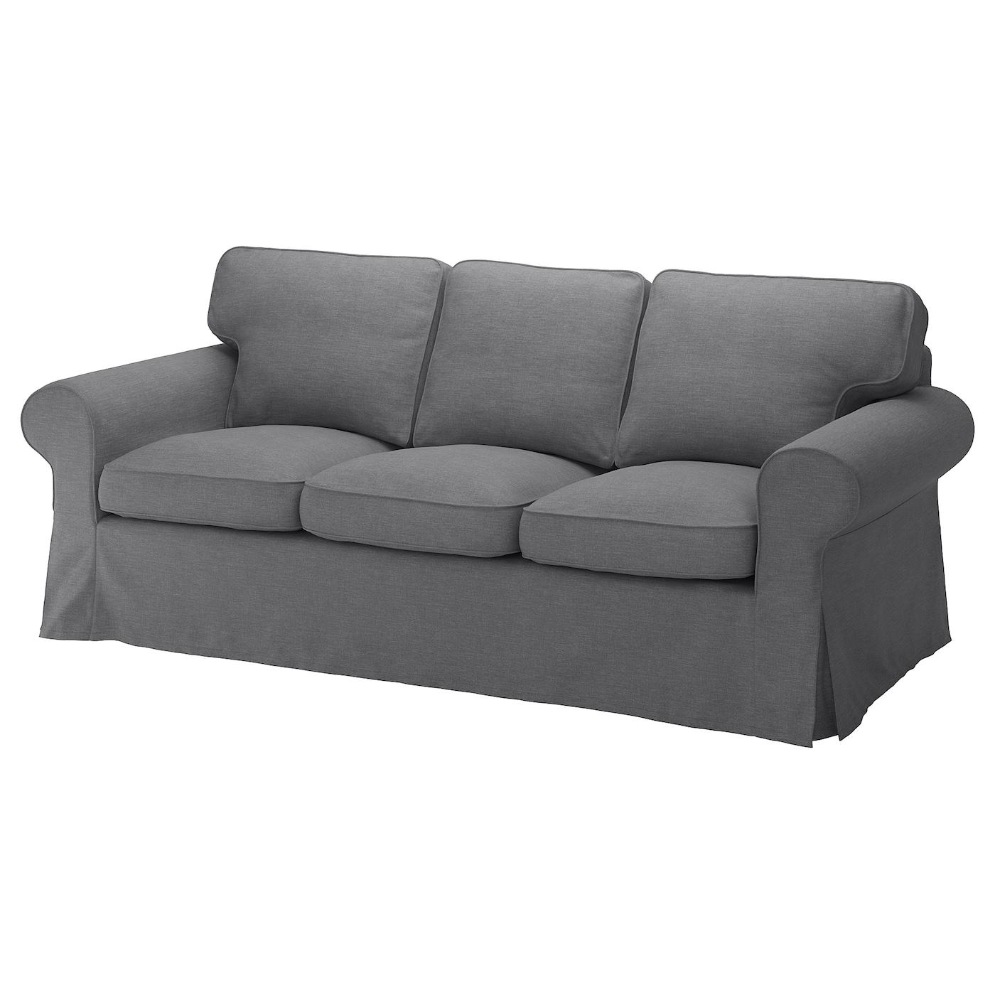 IKEA EKTORP ciemnoszara sofa trzyosobowa