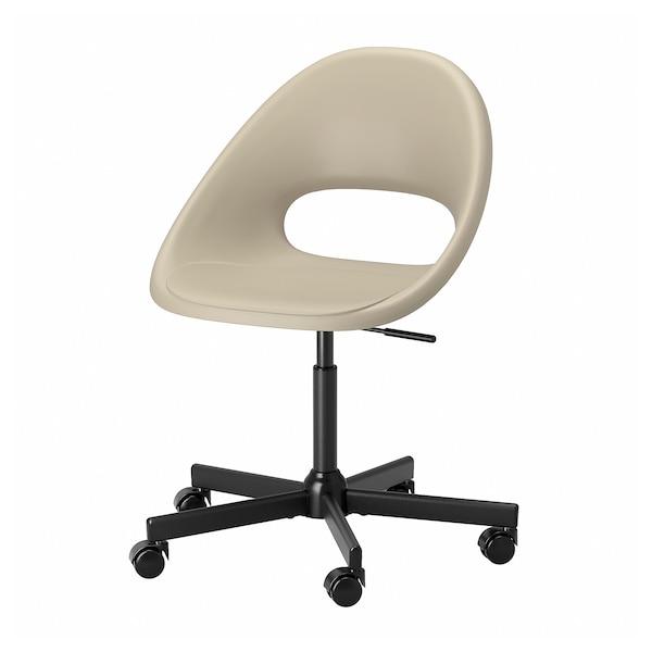 ELDBERGET / MALSKÄR Krzesło obrotowe, beżowy/czarny