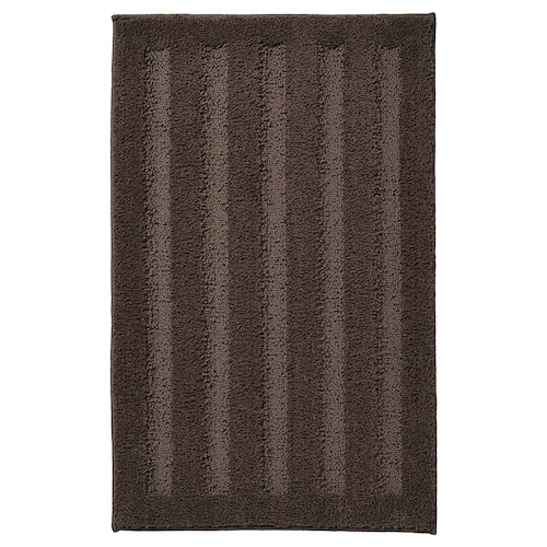 EMTEN dywanik łazienkowy ciemnobrązowy 80 cm 50 cm 0.40 m²