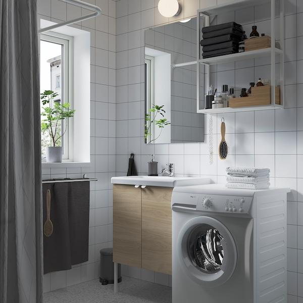 ENHET / TVÄLLEN Meble łazienkowe, zestaw 11 szt., imit. dębu/biały bateria Pilkån, 64x43x87 cm