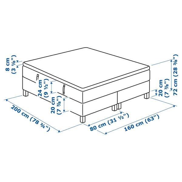 IKEA ESPEVÄR Łóżko kontynentalne