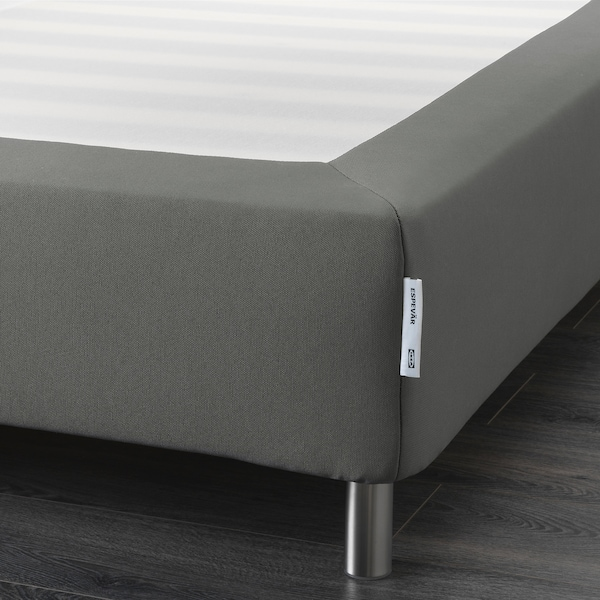 ESPEVÄR Listwowa podstawa materaca z nogami, ciemnoszary, 160x200 cm