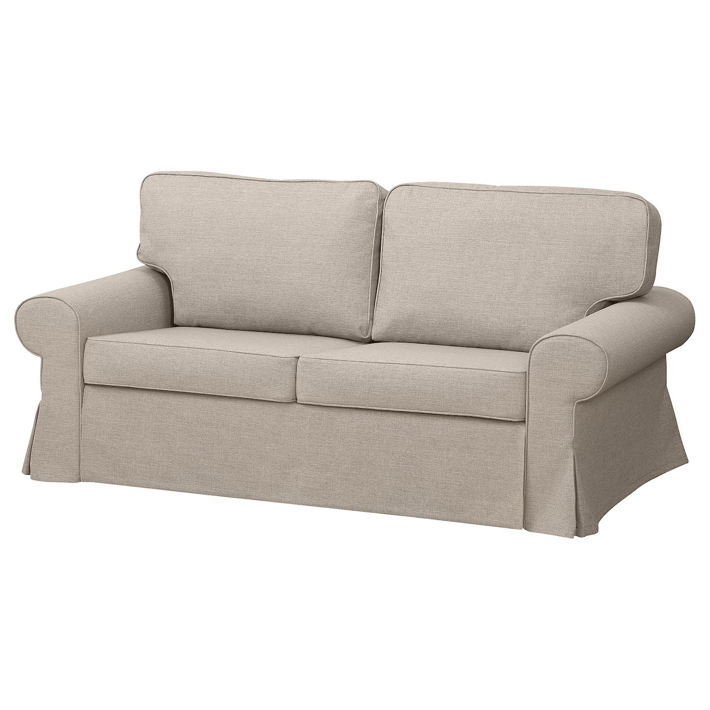 IKEA EVERTSBERG Sofa 2-osobowa rozkładana, z pojemnikiem beżowy