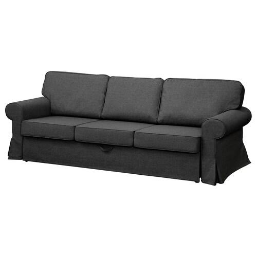 EVERTSBERG Rozkładana sofa 3-osobowa z pojemnikiem ciemnoszary 45 cm 91 cm 78 cm 249 cm 110 cm 62 cm 200 cm 60 cm 145 cm 200 cm 14 cm