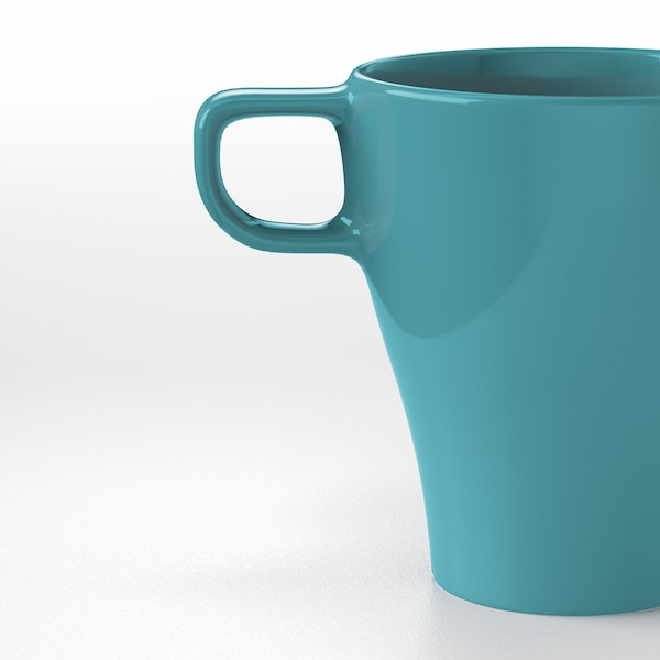 FÄRGRIK kubek turkusowy 11 cm 25 cl