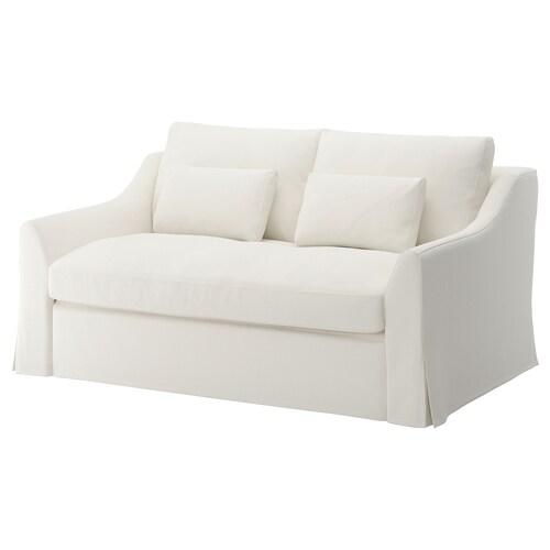 FÄRLÖV sofa 2-osobowa rozkładana Flodafors biały 90 cm 79 cm 175 cm 109 cm 144 cm 64 cm 55 cm 140 cm 200 cm