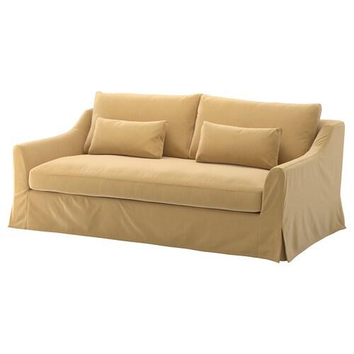 FÄRLÖV sofa 3-częściowa Djuparp żółtobeżowy 88 cm 218 cm 106 cm 15 cm 61 cm 191 cm 64 cm 48 cm