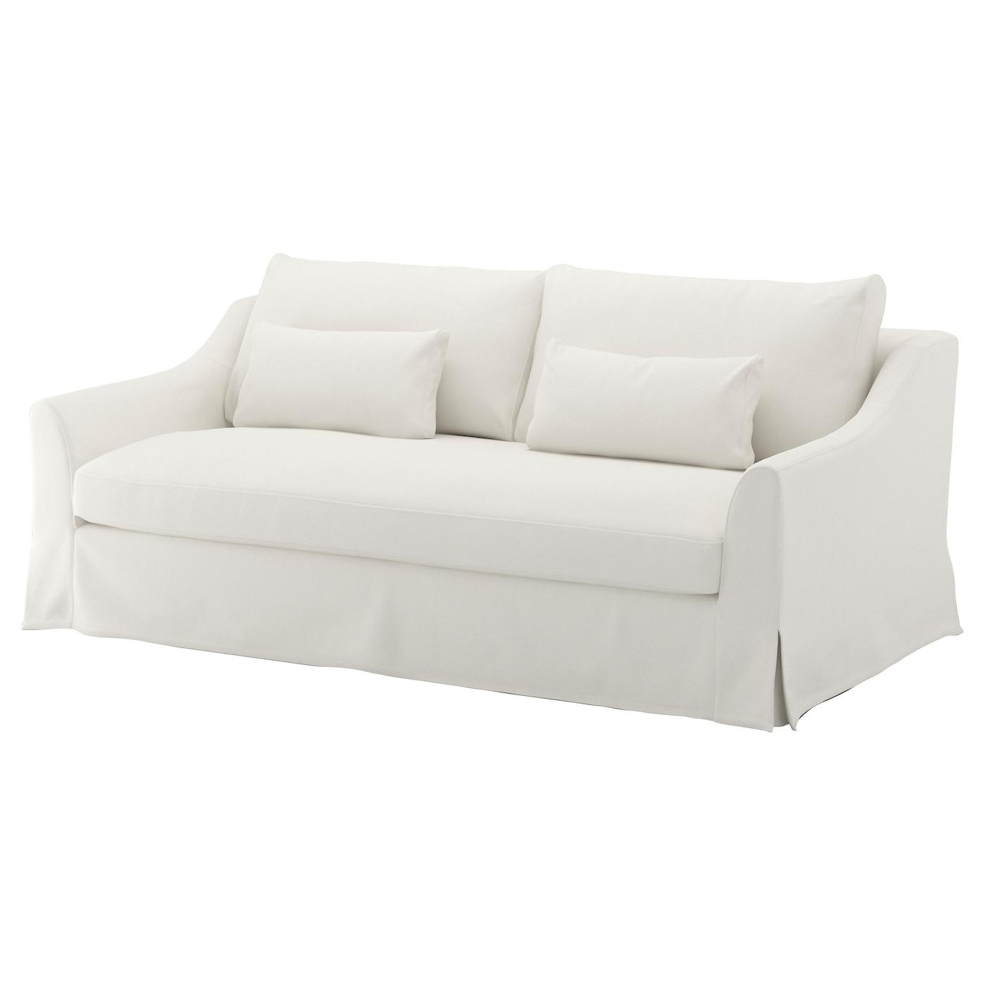 IKEA FÄRLÖV biała sofa trzyczęściowa
