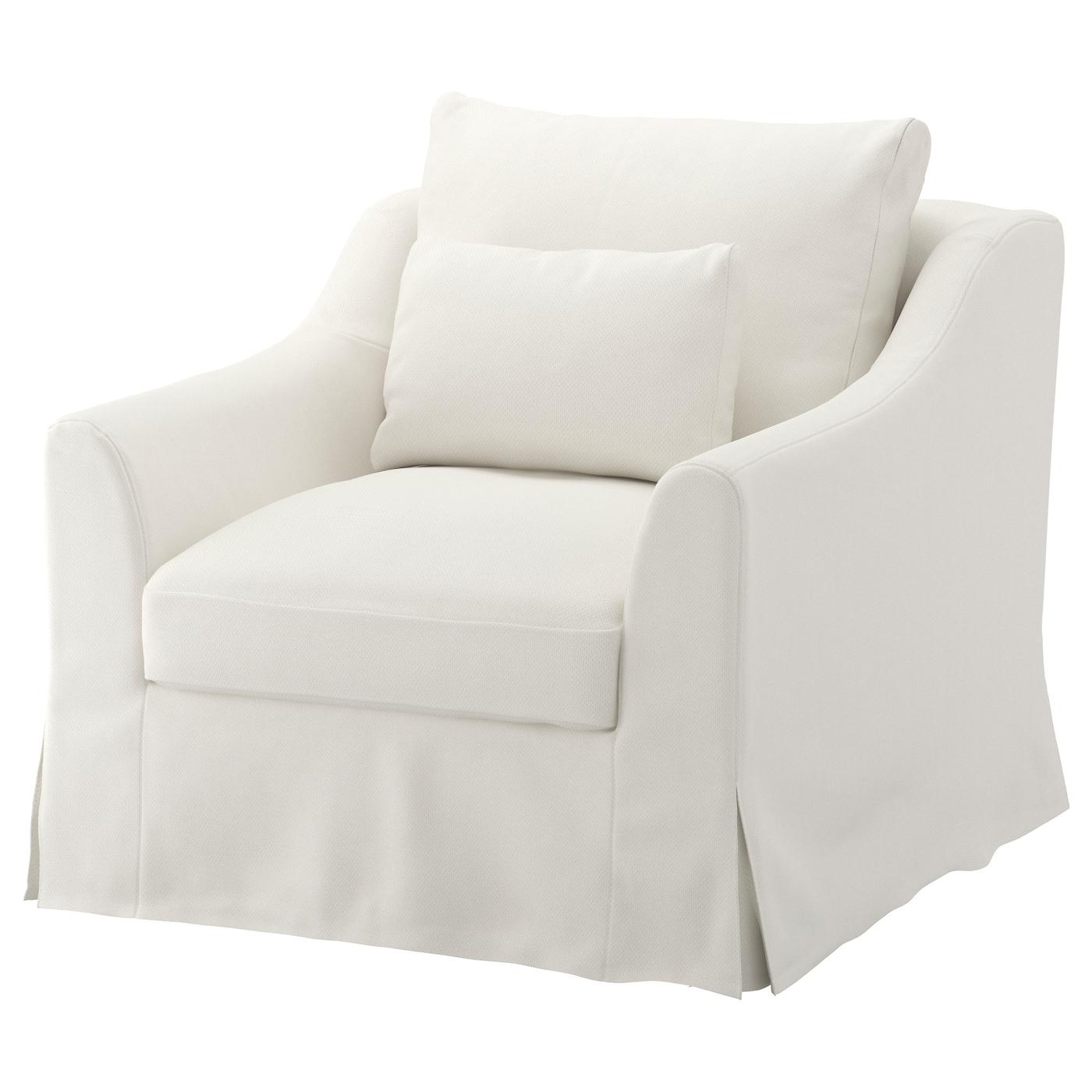 IKEA FÄRLÖV Fotel, Flodafors biały