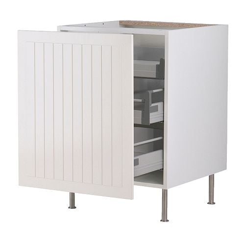 FAKTUM Base cabinet with pull-out storage IKEA The drawers close slowly, quietly and softly thanks to the...