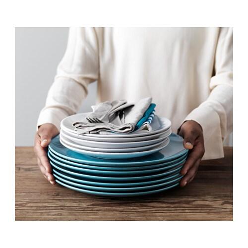 ФЭРГРИК Сервиз,18 предметов, керамика, бирюзовый-4