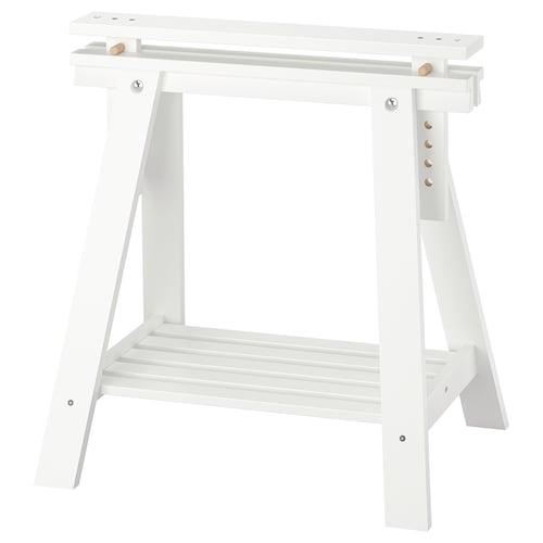 FINNVARD stojak z półką biały 46 cm 70 cm 71 cm 93 cm 25 kg 25 kg