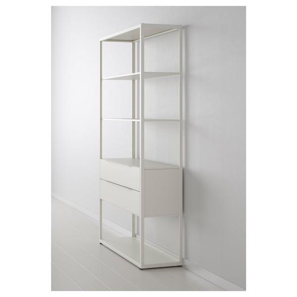 FJÄLKINGE regał z szufladami biały 118 cm 35 cm 193 cm 40 kg