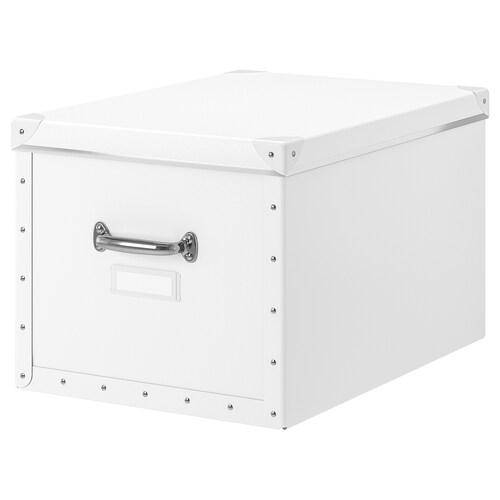 FJÄLLA pojemnik z pokrywą biały 50 cm 56 cm 35 cm 30 cm