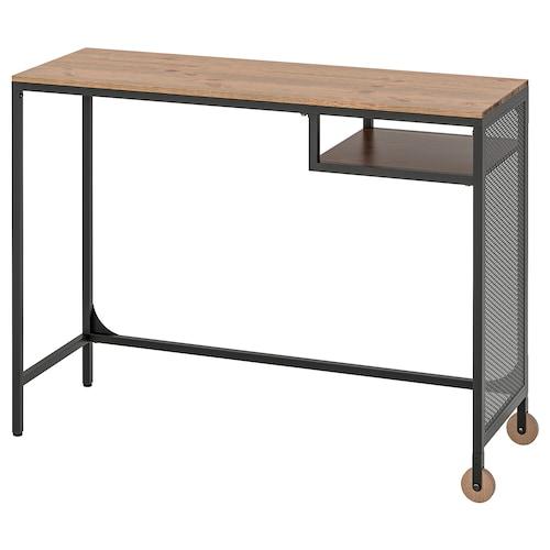 FJÄLLBO stolik na laptop czarny 100 cm 36 cm 75 cm 15 kg