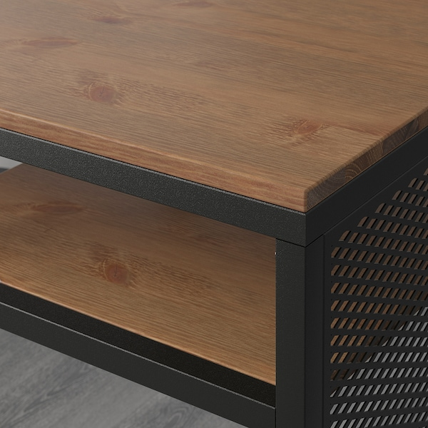 FJÄLLBO Stolik na laptop, czarny, 100x36 cm