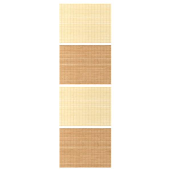 FJELLHAMAR 4 panele do ramy drzwi przesuwanych bambus/2str 75 cm 236 cm 0.4 cm