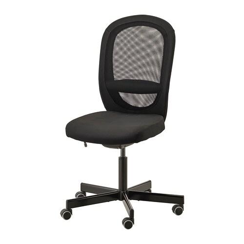 W superbly FLINTAN Krzesło biurowe - Vissle czarny - IKEA EC12